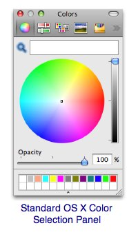 Screen shot webcolorpicker, a hex color picker for OS X